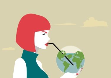woman_drinking_the_earth